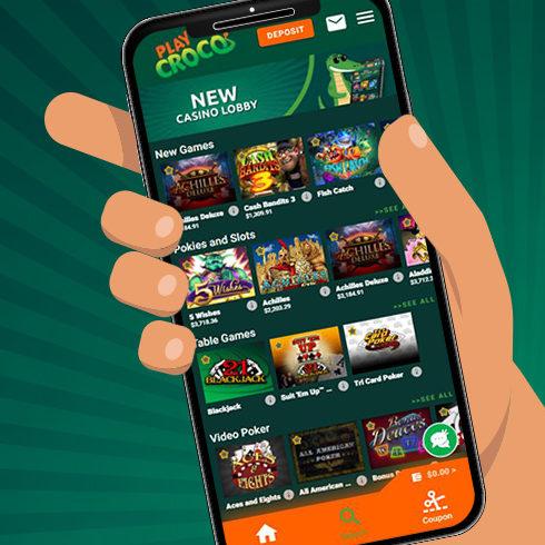 playcroco mobile casino app